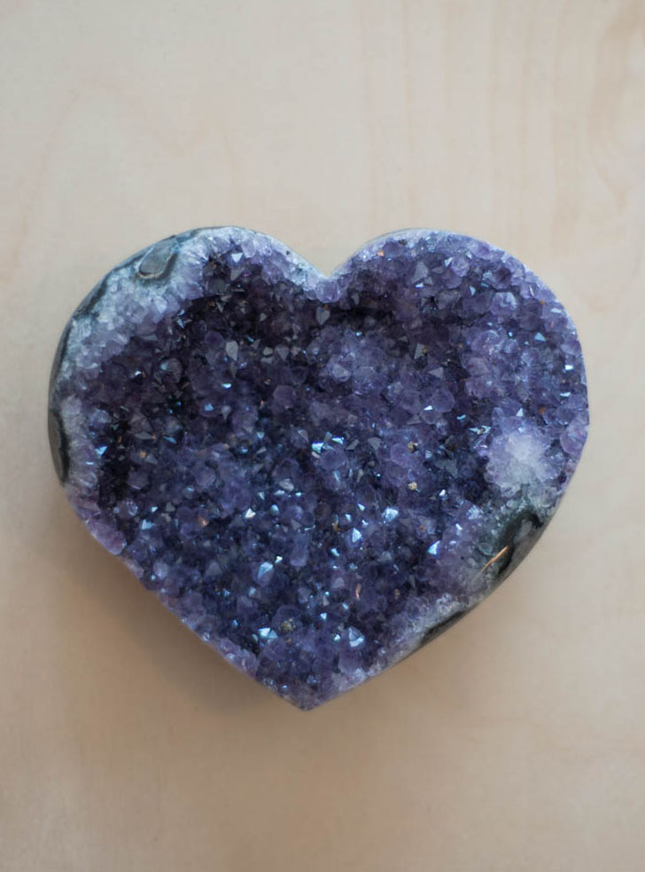 Uruguay Amethyst Geode Heart #17
