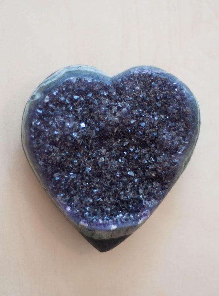 Uruguay Amethyst Geode Heart #18