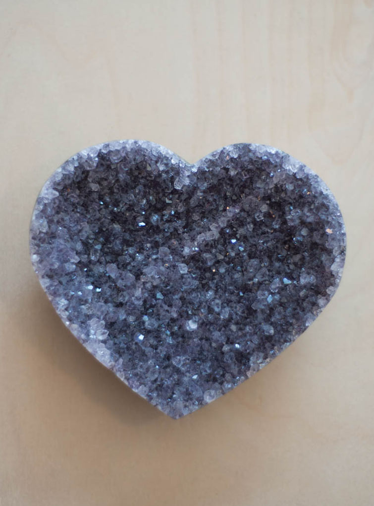 Uruguay Amethyst Geode Heart #21