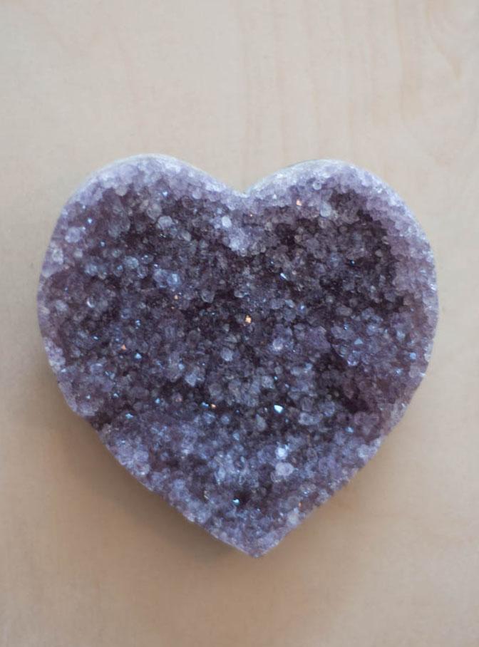 Uruguay Amethyst Geode Heart #22