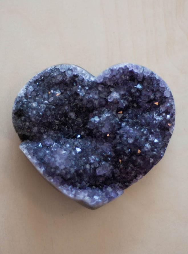 Uruguay Amethyst Geode Heart #23