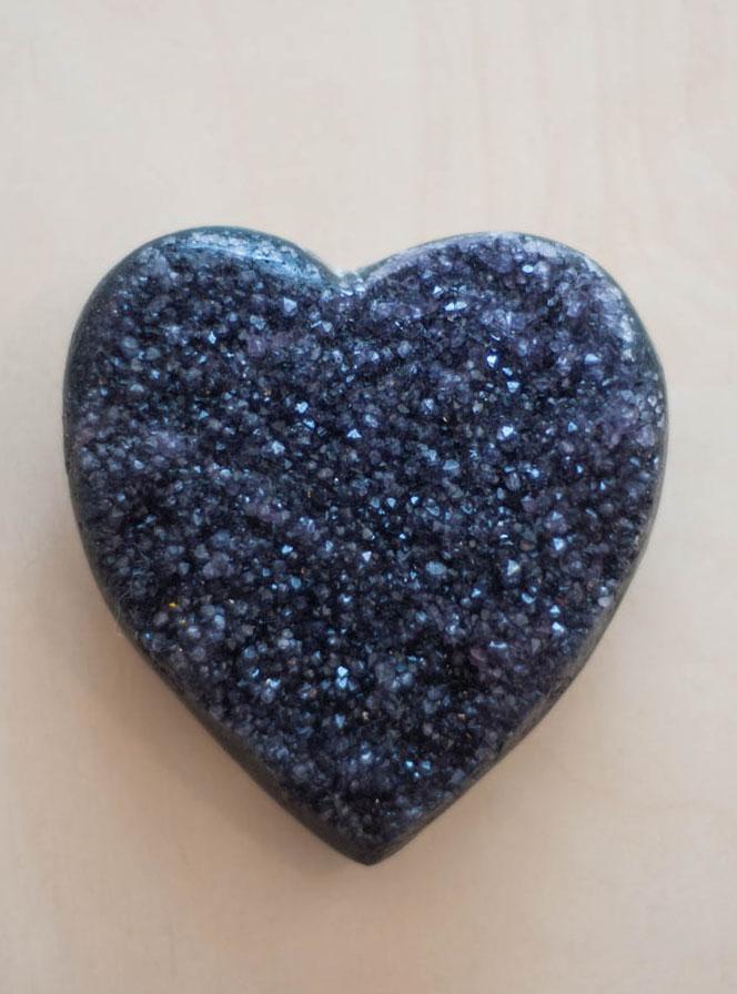 Uruguay Amethyst Geode Heart #24