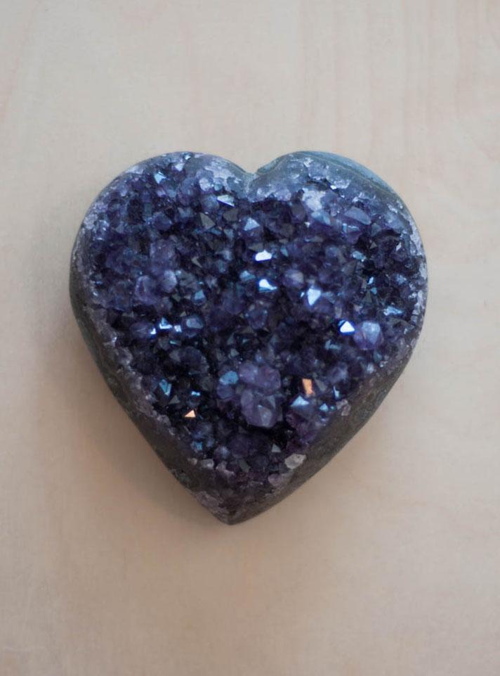 Uruguay Amethyst Geode Heart #25