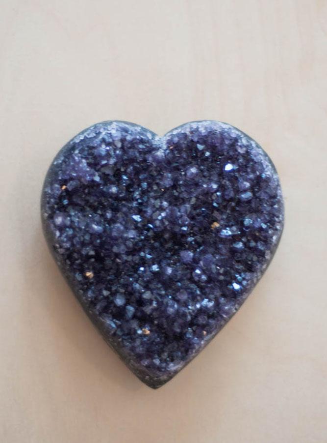 Uruguay Amethyst Geode Heart #27