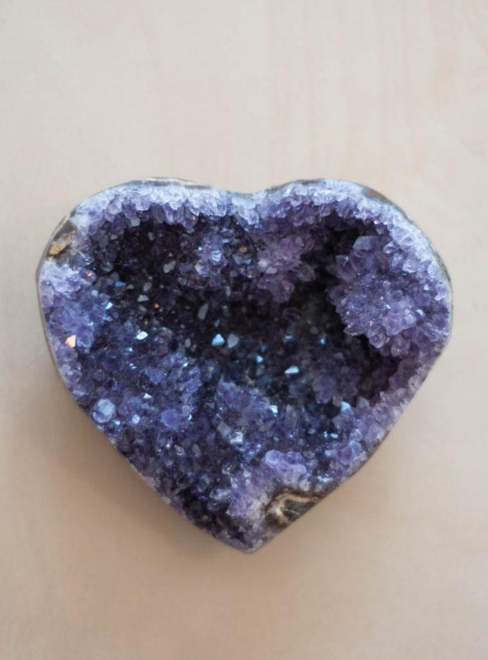 Uruguay Amethyst Geode Heart #29