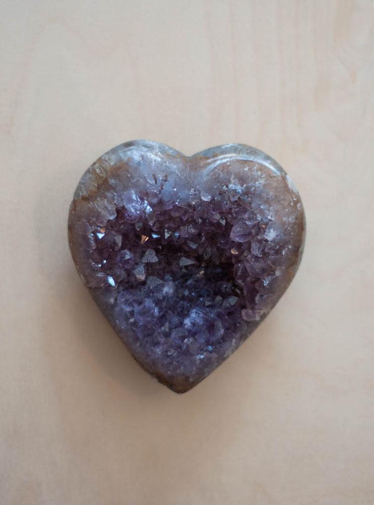 Uruguay Amethyst Geode Heart #30