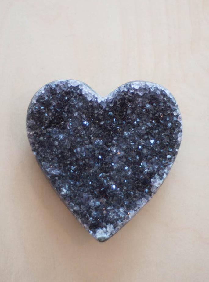 Uruguay Amethyst Geode Heart #31