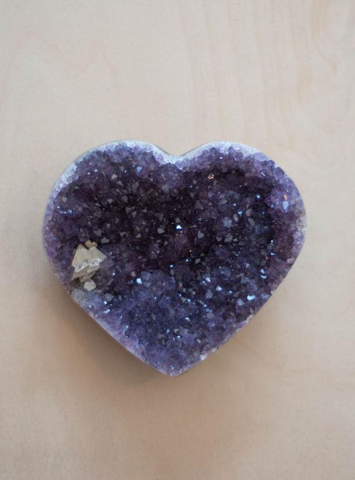 Uruguay Amethyst Geode Heart #32