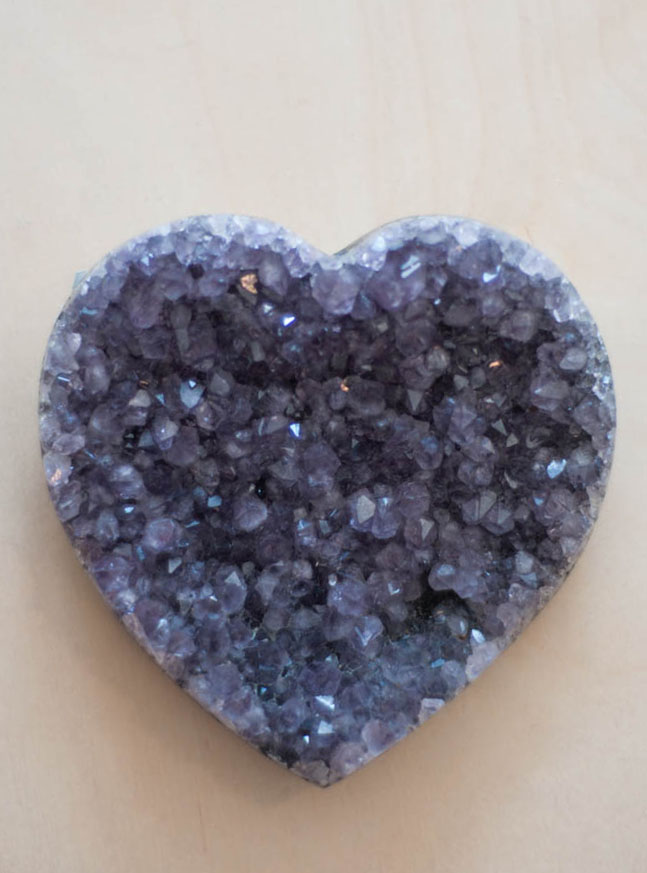 Uruguay Amethyst Geode Heart #33