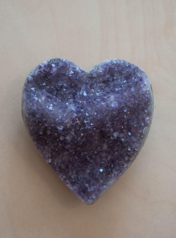 Uruguay Amethyst Geode Heart #35