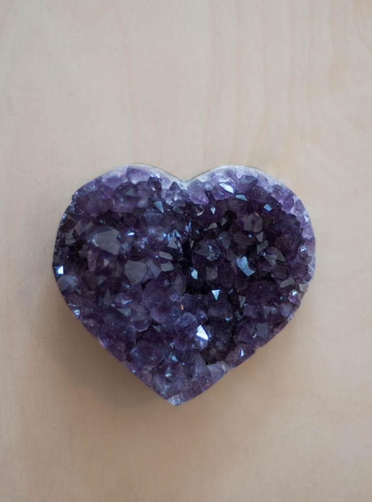 Uruguay Amethyst Geode Heart #36