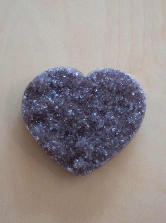 Uruguay Amethyst Geode Heart #37