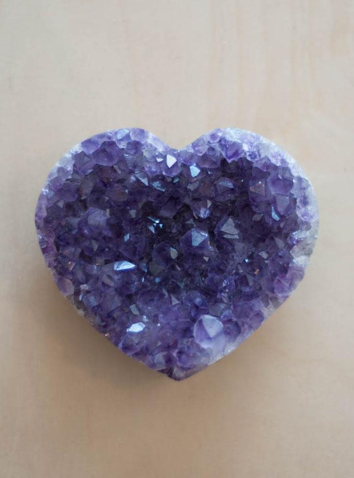 Uruguay Amethyst Geode Heart #38