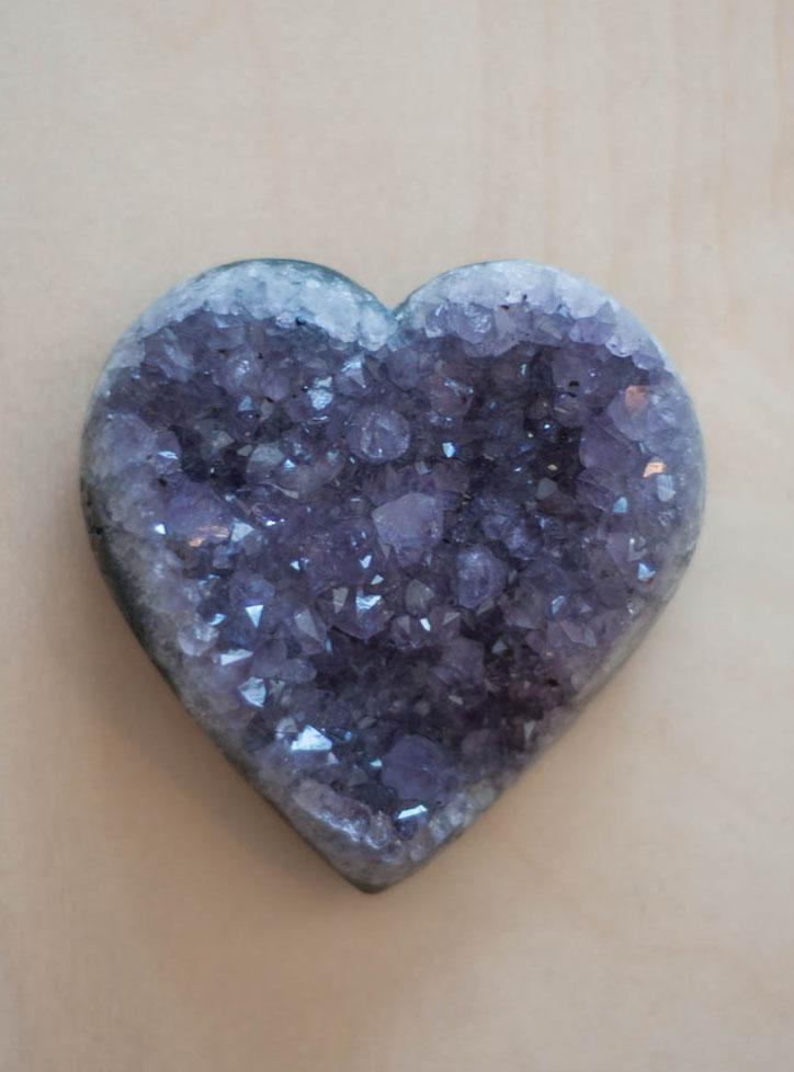 Uruguay Amethyst Geode Heart #41