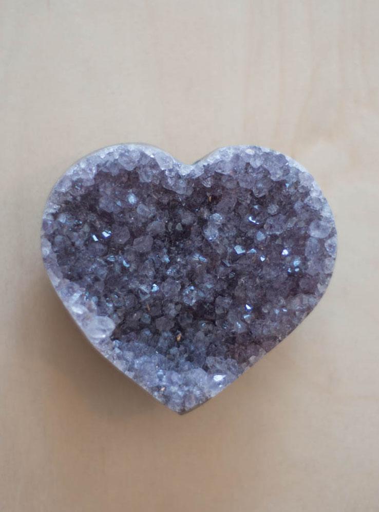 Uruguay Amethyst Geode Heart #42