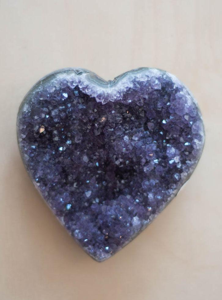 Uruguay Amethyst Geode Heart #44