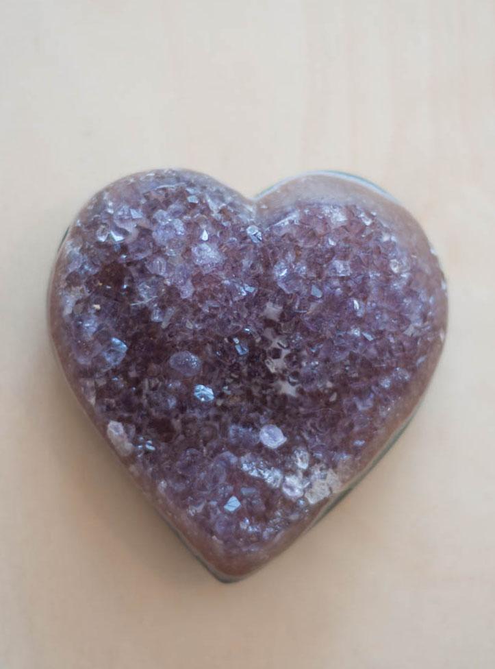 Uruguay Amethyst Geode Heart #46