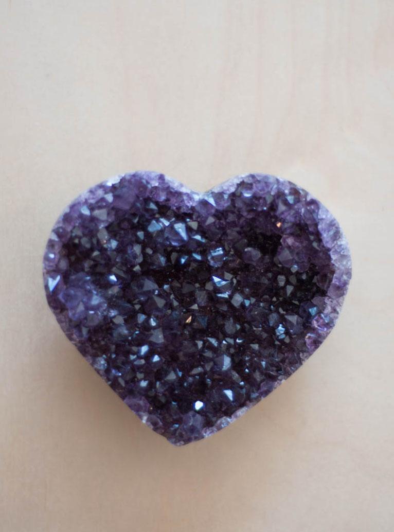 Uruguay Amethyst Geode Heart #52