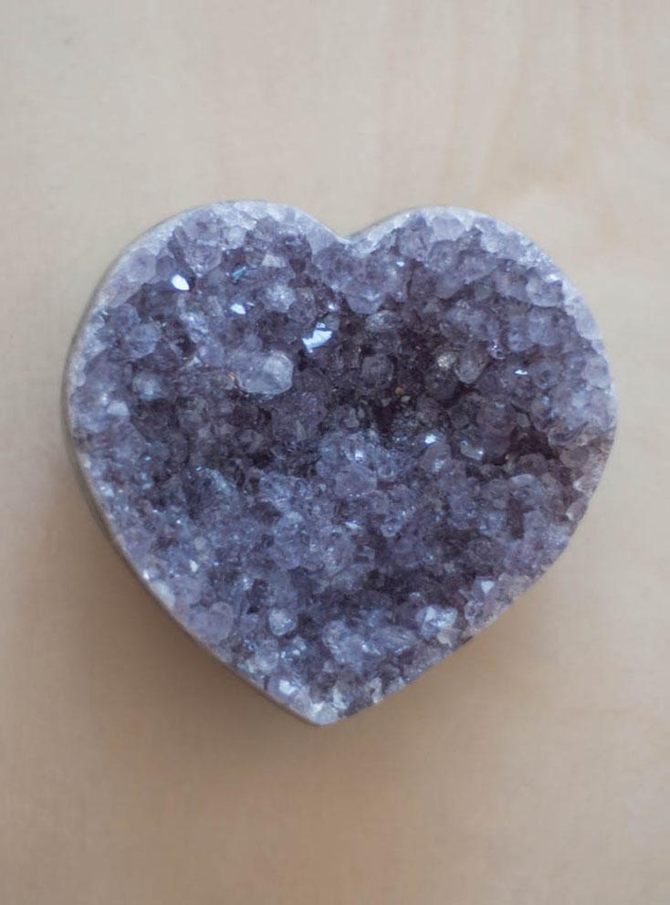 Uruguay Amethyst Geode Heart #53