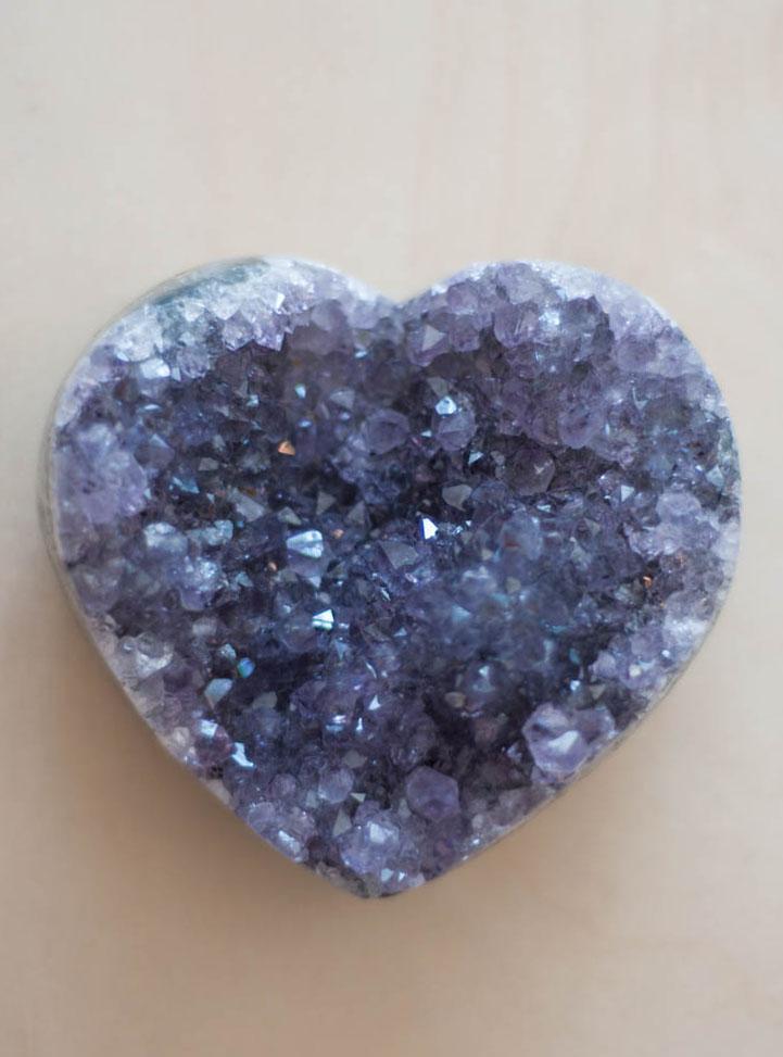 Uruguay Amethyst Geode Heart #56