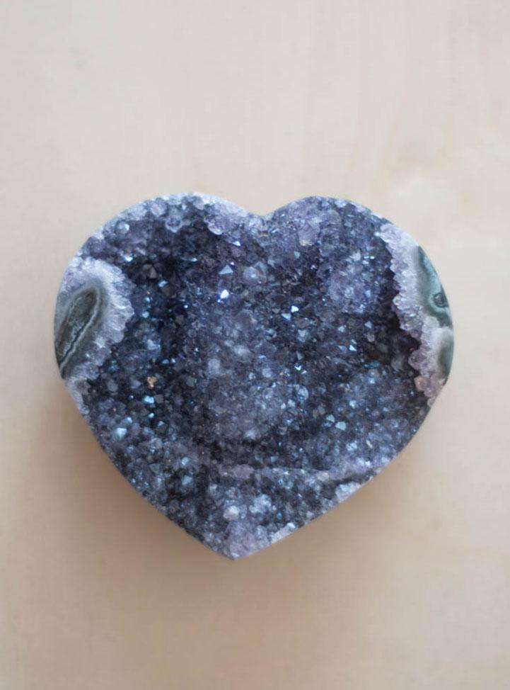 Uruguay Amethyst Geode Heart #57