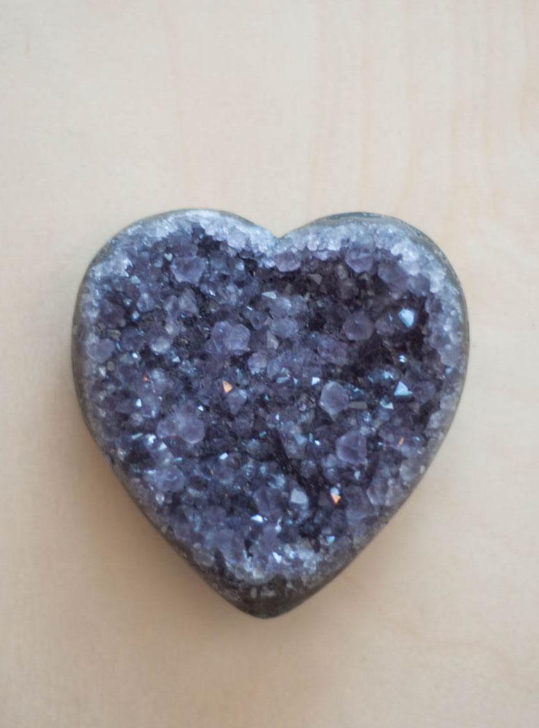 Uruguay Amethyst Geode Heart #58