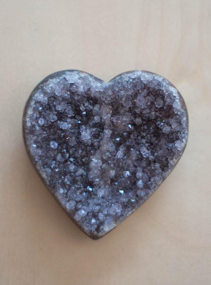 Uruguay Amethyst Geode Heart #59