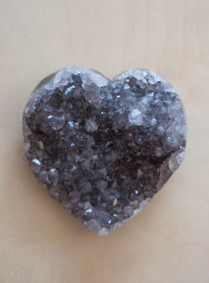 Uruguay Amethyst Geode Heart #60