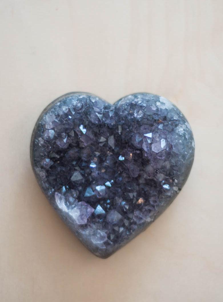 Uruguay Amethyst Geode Heart #61