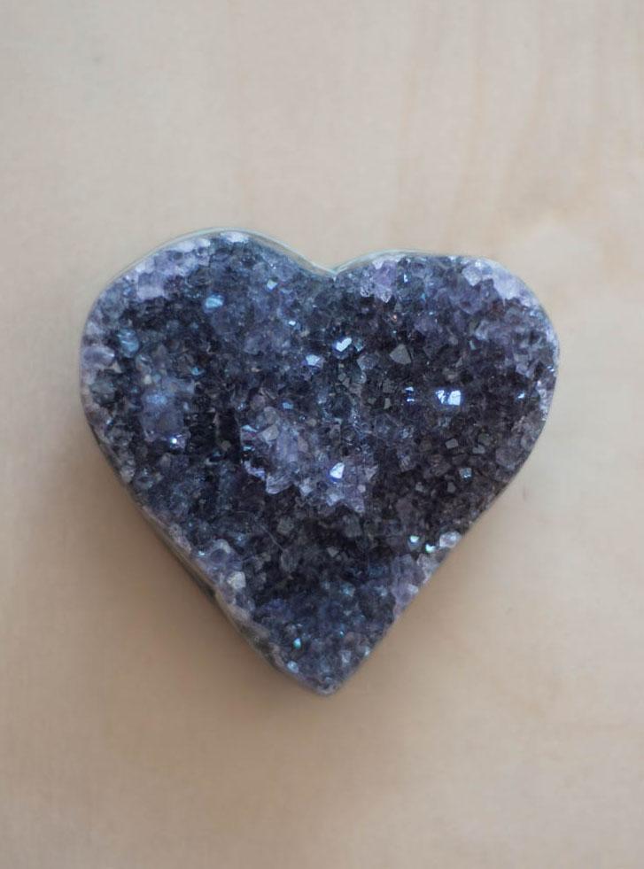 Uruguay Amethyst Geode Heart #62
