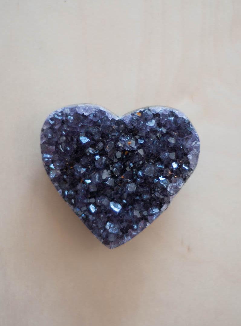Uruguay Amethyst Geode Heart #69
