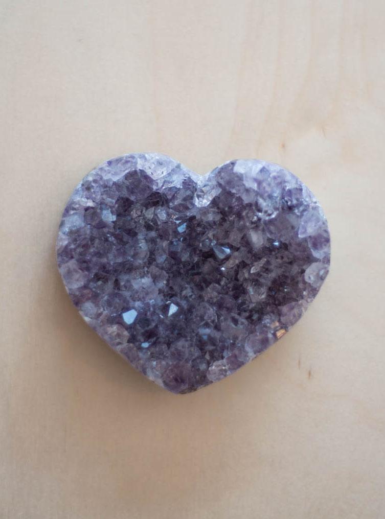 Uruguay Amethyst Geode Heart #70