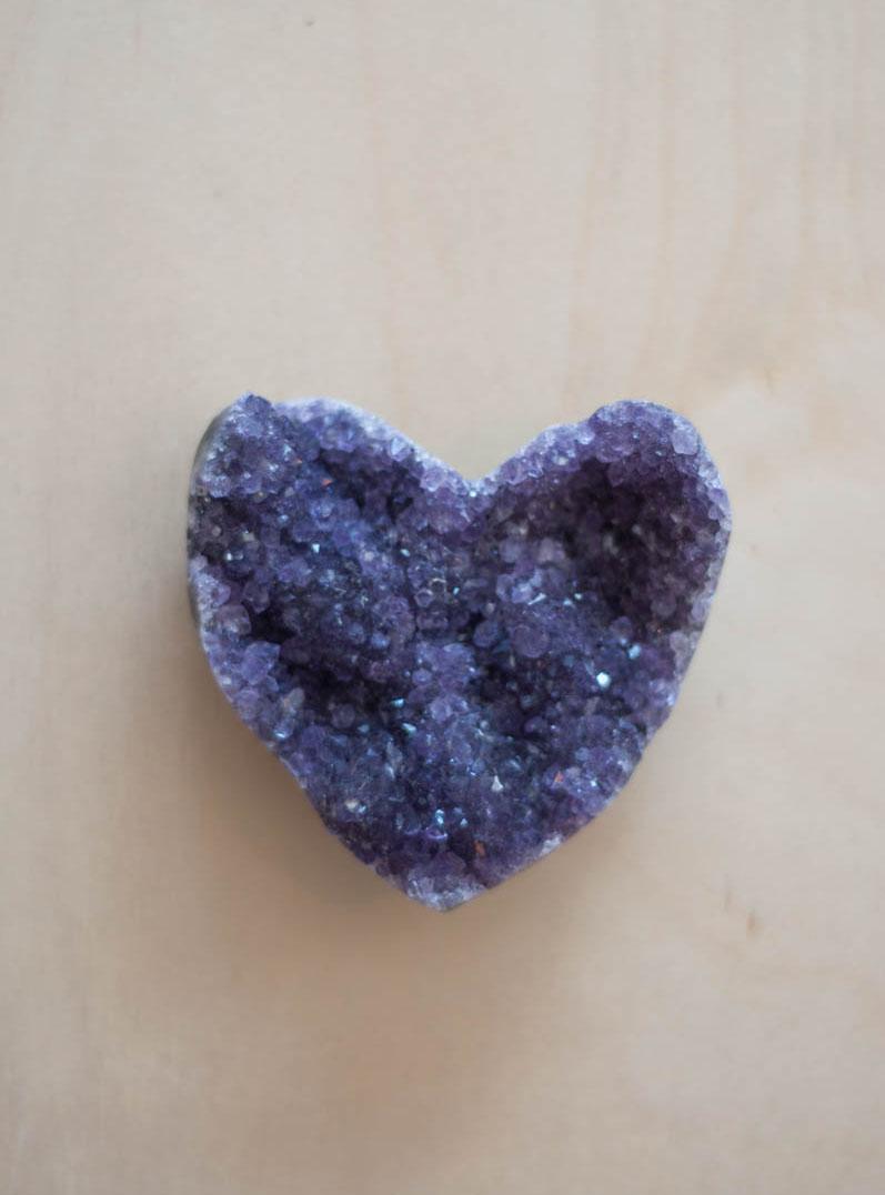 Uruguay Amethyst Geode Heart #71