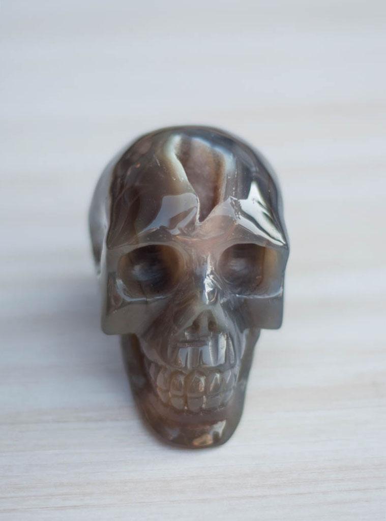 Agate Geode Crystal Skull #5