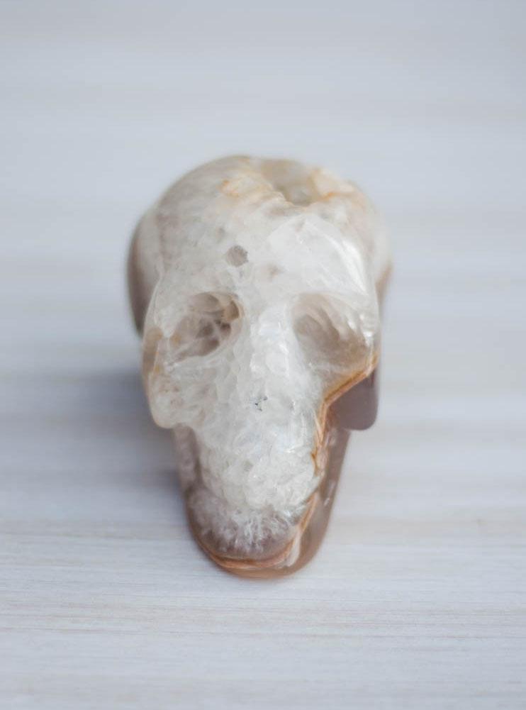 Agate Geode Crystal Skull #6