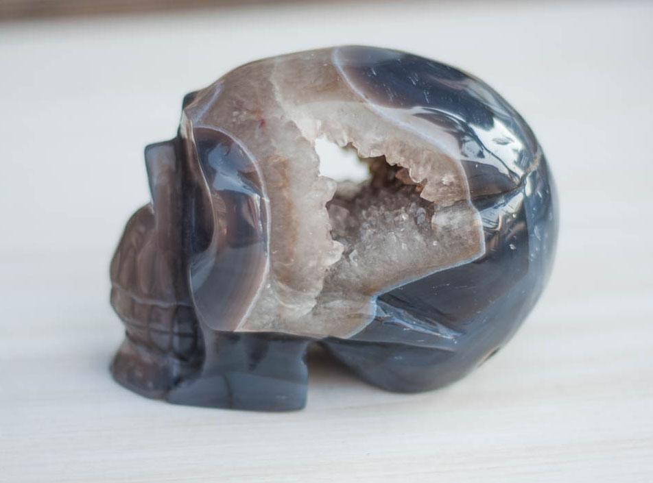 Agate Geode Crystal Skull #8