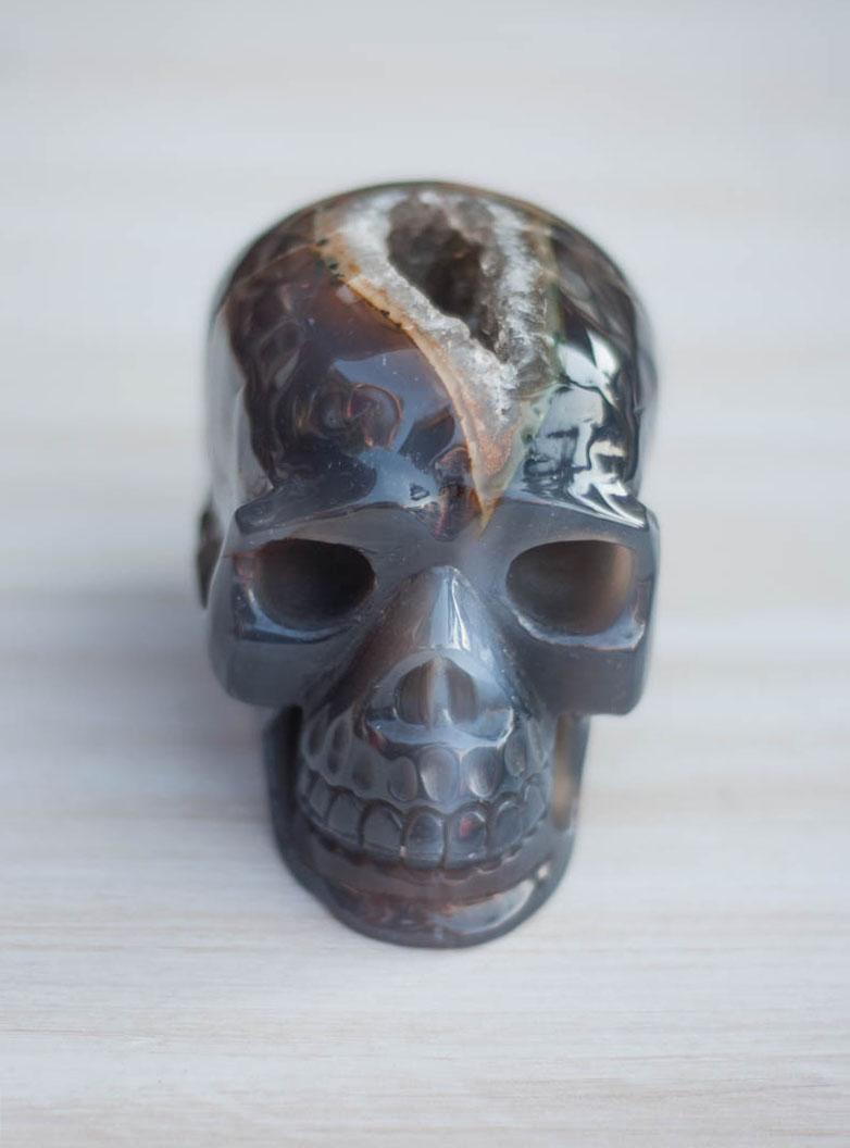Agate Geode Crystal Skull #10
