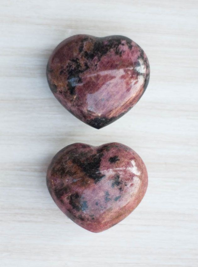 Rhodonite Heart medium