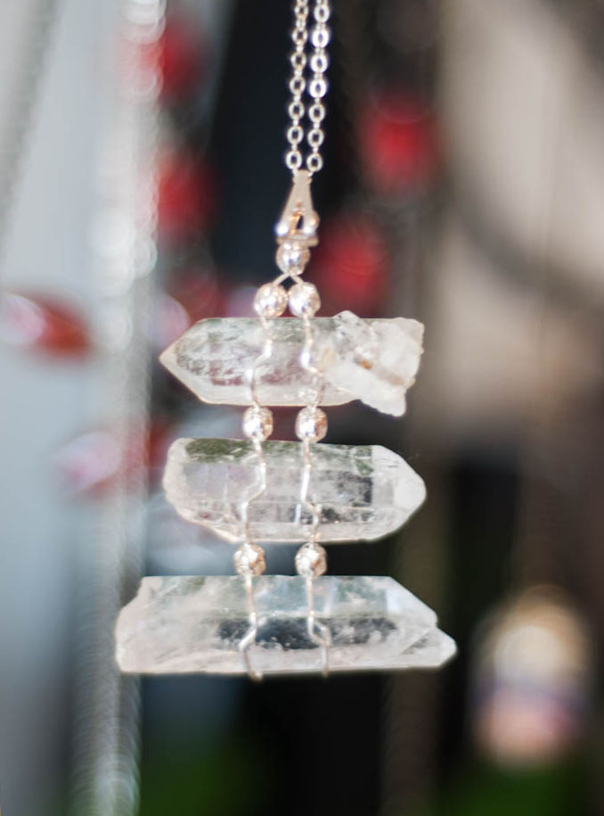 Clear Quartz Pendant 3 layers