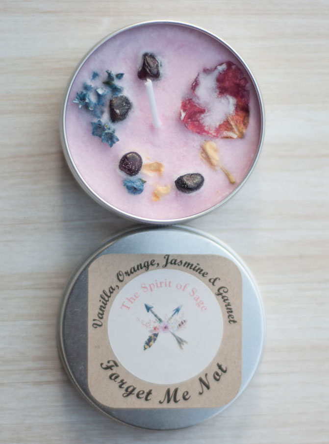 Forget Me Not Handmade Travel Candles