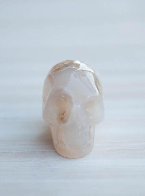 Agate Geode Crystal Skull #3