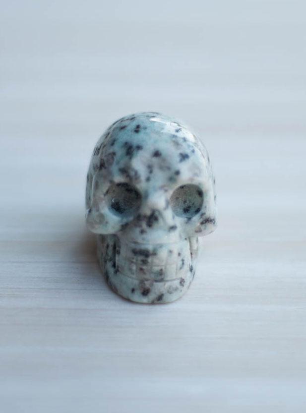Lotus Jasper Crystal Skull