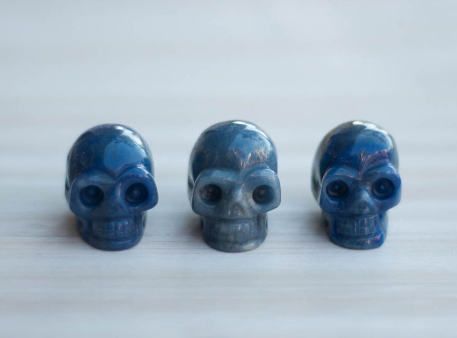 Blue Quartz Crystal Skull small