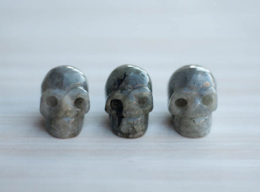 Labradorite Crystal Skull small