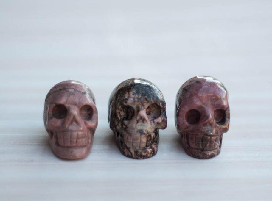 Rhodonite Crystal Skull