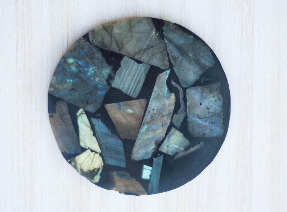 Labradorite in Resin Flat Plate