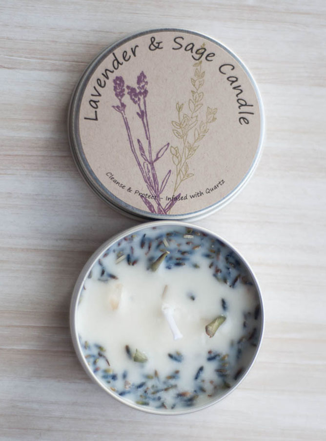 Sage and Lavender Tin Candle
