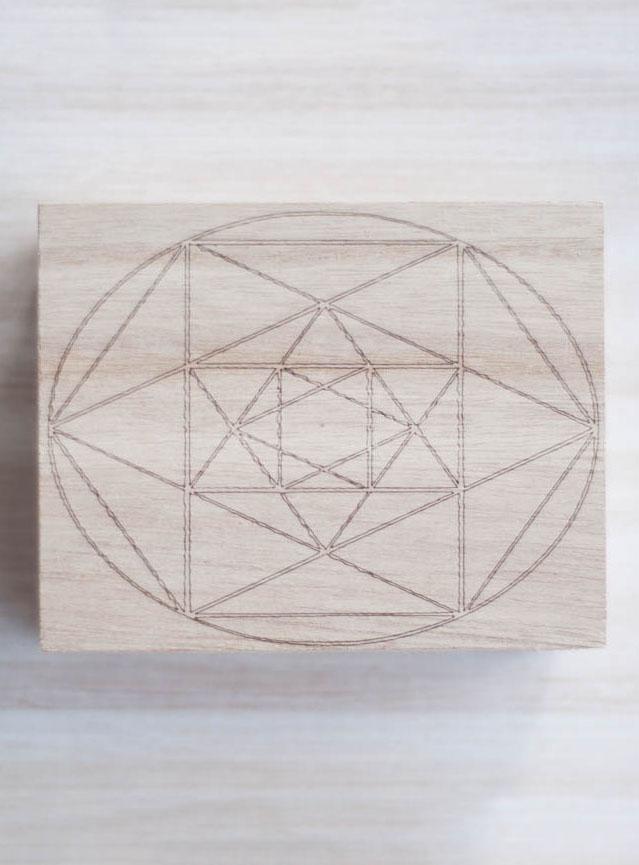 Metatron Wood Box