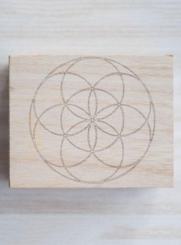 Seed of Life Wood Box