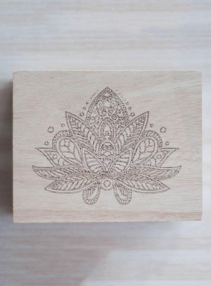 Lotus Wood Box